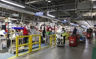 Les chaînes de montage de l'usine Toyota d'Onnaing