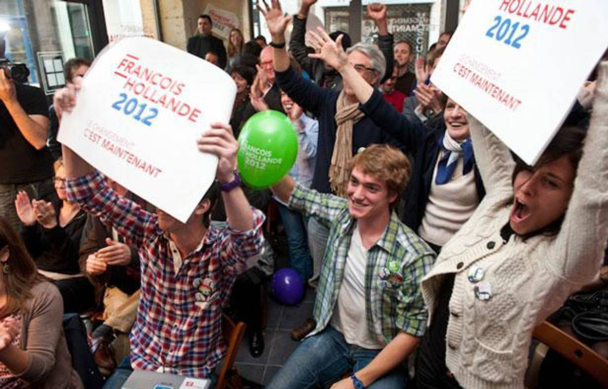 Scène de joie au QG de Françoise Delaunay (PS) à Bordeaux à l'issue du premier tour de la présidentielle – S.ORTOLA/20MINUTES
