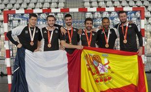 Les six «médaillés» du HBC Nantes.