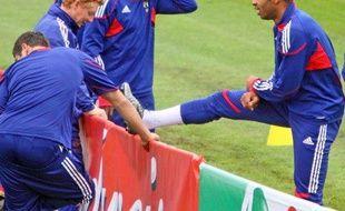 Les joueurs de l'équipe de France, lors d'un entraînement à Knysna, le 21 juin 2010.