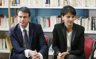 Manuel Valls et Najat Vallaud-Belkacem.