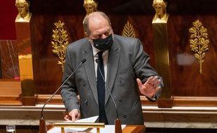 Le ministre de la Justice Eric Dupond-Moretti à l'Assemblée le 1er février 2021.