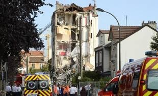 Un immeuble s'est effondré à Rosny-sous-Bois, le 31 août 20014.