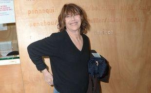 Jane Birkin, le 29 mars 2017 au théâtre du Rond-Point à Paris.