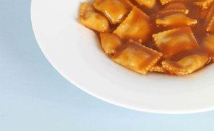 Illustration d'une assiette de raviolis.