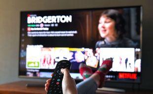 Netflix sur une télé en Grande-Bretagne.