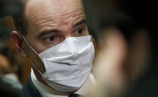 """Jean Castex à l'hôpital d'Argenteuil face à la """"montée des eaux"""" du Covid-19 (Archives)"""
