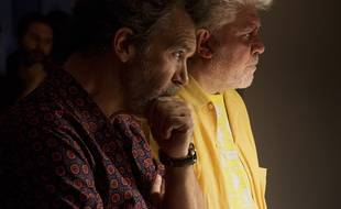Antonio Banderas et Pedro Almodóvar sur le plateau de Douleur et gloire