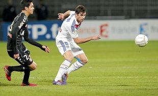 Gourcuff, ici contre Reims, a inscrit 2 buts et délivré 6 passes décisives lors des 7 derniers matchs de l'OL.