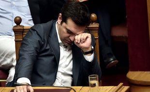Alexis Tsipras au parlement grec, le 16 juille t201(