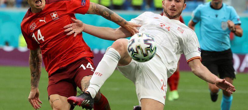 Aymeric Laporte avec l'Espagne lors de l'Euro 2021.