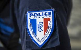 Un écusson de police municipale (illustration)