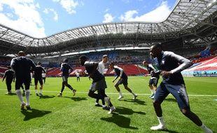 L'équipe de France à l'entraînement à Kazan, le 15 juin 2018.