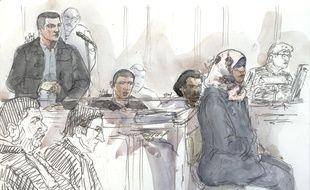 Bilal Taghi (débout) lors de son procès en 2016 pour avoir tenté de rallier la Syrie.