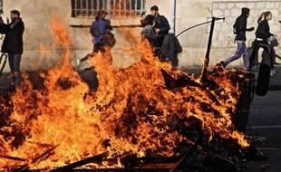 Des violences ont éclaté au lycée Saint-Charles, à Marseille, le 6 décembre 2018.