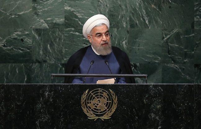 Le prsident iranien Hassan Rohani, le 28 septembre 2015  l'ONU.