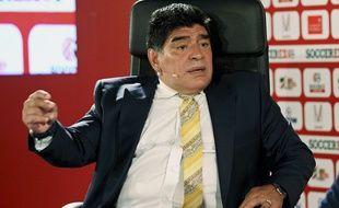 Diego Maradona, ici le 4 mai 2015 lors d'une intervention en Jordanie.