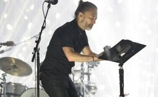 Le leader de Radiohead, Thom Yorke, en concert au Festival de Coachella en 2017