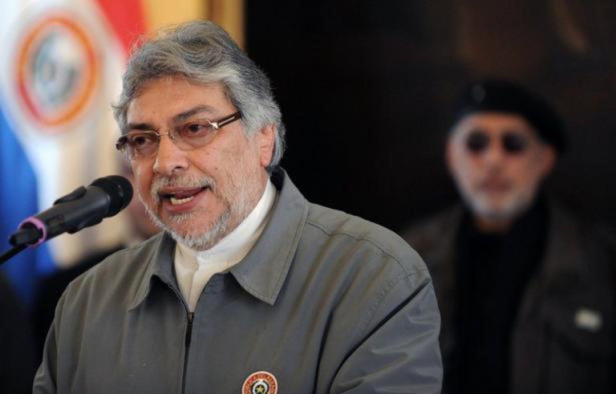 Le président paraguayen Fernando Lugo, qui pourrait se voir privé de sa dernière année de mandat lors d'une procédure expresse de destitution vendredi, a déposé un recours en inconstitutionnalité devant la Cour Suprême, a annoncé son porte-parole. – Norberto Duarte afp.com