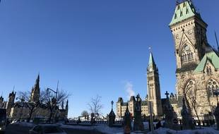 Parlement canadien, à Ottawa, illustration.