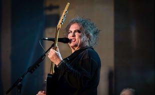 Robert Smith, leader de The Cure, lors d'un concert à Hyde Park (Londres), en juillet 2018.
