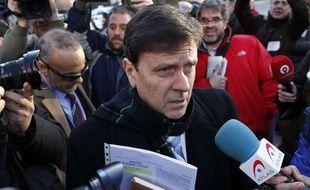Le Docteur Eufemiano Fuentes à son arrivée à un procès à Madrid en 2013.