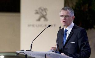 Le président du directoire de PSA, Carlos Tavares, le 18 février 2015 à Paris