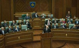 Le nouveau Premier ministre Isa Mustafa à Pristina le 9 décembre 2014