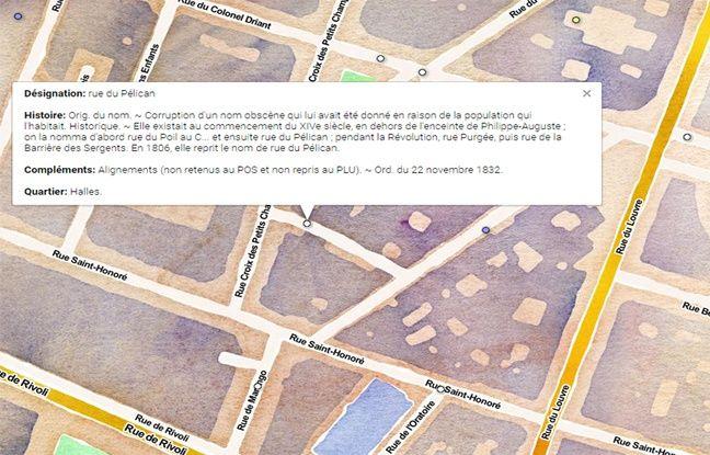 Petite explication de l'origine du nom de la rue du Pélican.