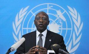 Le général Babacar Gaye, au siège de la Binuca, le 6 février 2014 à Bangui