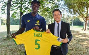 Kara Mbodji et le DG Franck Kita.