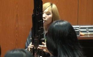 La jeune musicienne taïwanaise Li-Chin Li avec son sheng.