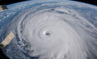 L'ouragan Florence vu de l'espace, le 12 septembre 2018.