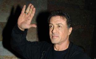 """Sylvester Stallone à la fête de """"John Rambo"""" au Bound, le 04 février 2008"""