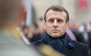 Emmanuel Macron à Dormans (Marne), le 14 novembre 2019.