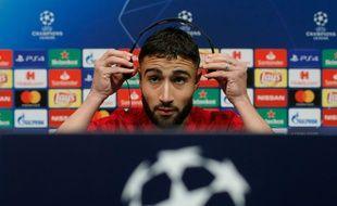 Nabil Fekir a eu un discours très rassembleur en conférence de presse, ce mardi, à la veille du choc face au Barça. Pau Barrena / AFP