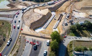 L'échangeur de Viais (Loire-Atlantique), actuellement en cours de construction.