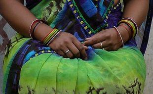 Une victime du viol conjugal à New Delhi, le 6 avril 2016