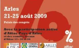 L'affiche de l'Université d'été d'Attac, du 21 au 25 août 2009.