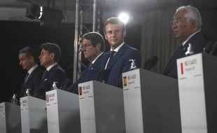 Emmanuel Macron au sommet du Med7, le 10 septembre 2020.