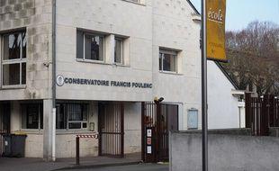 La façade du conservatoire de Tours, le 21 février 2018.