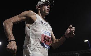 Yohann Diniz durant sa course, à Doha (Qatar), le 29 septembre 2019.