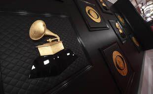 A l'entrée du lieu de la cérémonie des Grammy Awards, à Los Angeles le 26 janvier 2020.