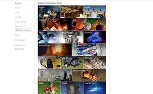 Capture d'écran de la page d'accueil de So.cl, le réseau social de Microsoft.