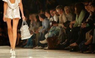 Un mannequin lors d'un défilé de mode