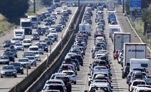 Des bouchons sur l'autoroute en période estivale. (illustration)