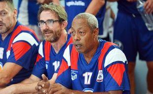 Jackson Richardson, ancien handballeur, réuni pour un match de gala à l'occasion des 50 ans Csbj Hand ball de Bourgoin Jallieu, le 10 juin 2017