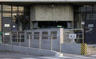 Vue en date du 9 juillet 2013 de l'entrée de la prison de Fleury Mérogis