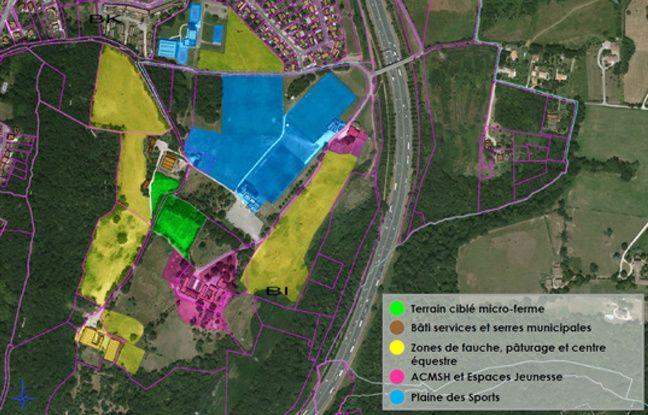 L'exploitation sera situé au coeur du parc, à proximité du centre équestre et de la plaine des sports.