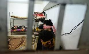 Des ex-membres de l'EI dans une prison irakienne, le 15 décembre 2018.